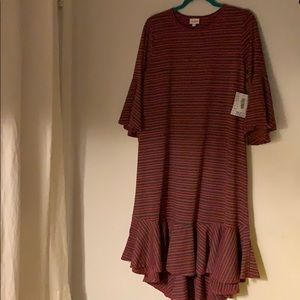 Lularoe Maurine Bell sleeved dress